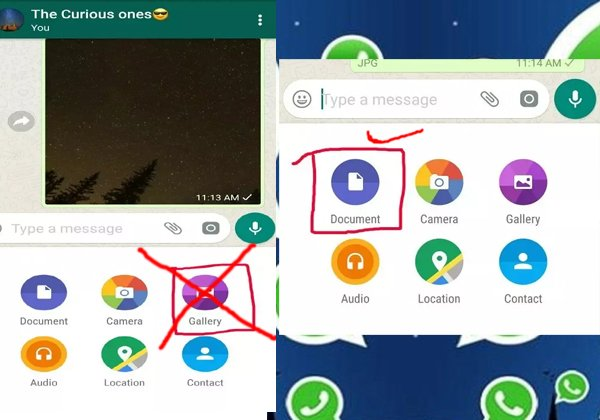 Do Sending Photos From Whatsapp Gallery..it Is Wrong ..know How To-