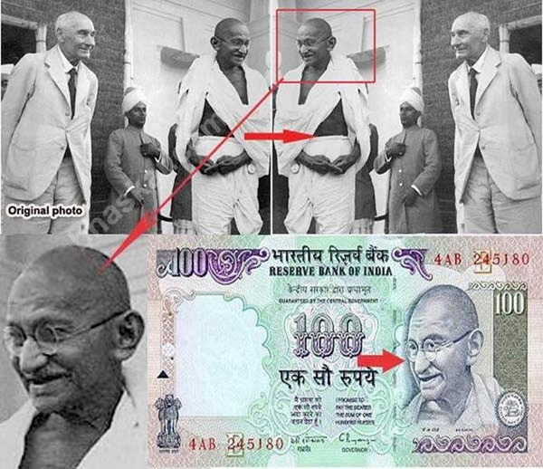 History Behind Mahatma Gandhi Picture On Indian Currency Notes-