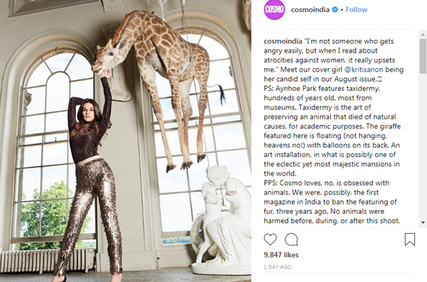 Kriti Sanon On Being Slammed For Posing With A Giraffe-