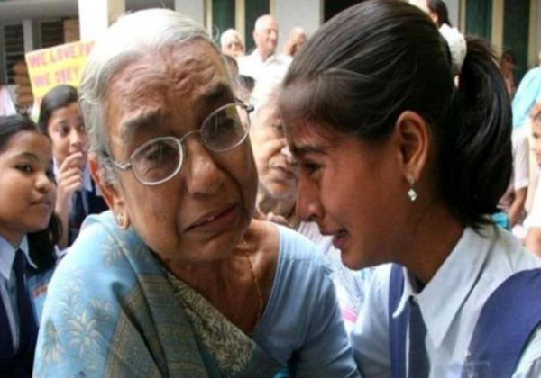 Photo Of Girl And Grandma Real  Except The Old Woman Wasn't Forsaken-