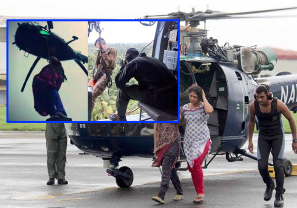 Pilot Who Executed Rooftop Landing During Kerala Flood Rescue Ops-