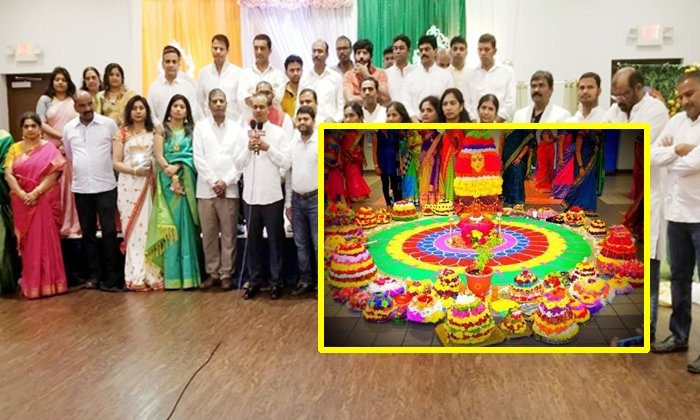 Pre Festival Arrangements Of Ugadi Bathukamma In Usa--Pre Festival Arrangements Of Ugadi Bathukamma In USA-