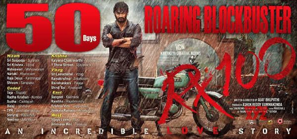 RX 100 Movie Completes 50 Days In 26 Centres-