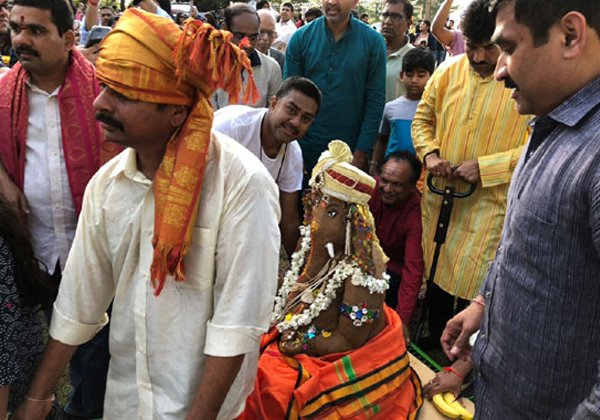 For The First Time Vinayaka Immersion In Amerika-