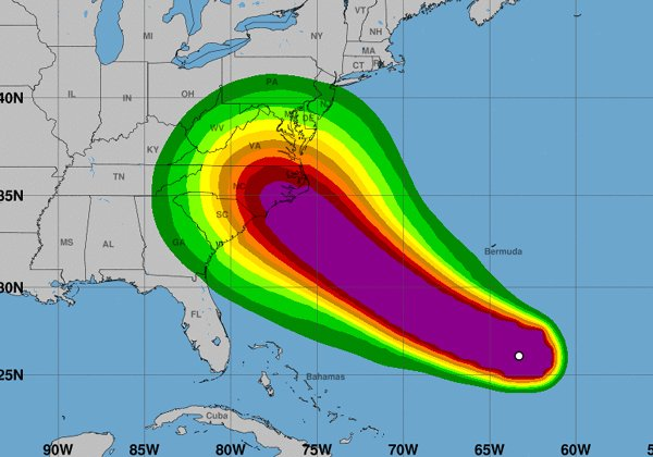 Hurricane Will Affect In North Carolina America-