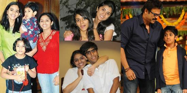 Interesting facts about Tollywood Star Victory Venkatesh-Three Daughters And One Son,Venky Wife Neeraja