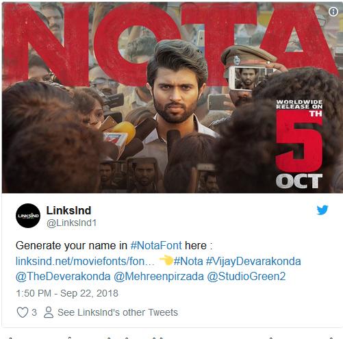 Ntr fans troll vijay devarakonda nota release date-
