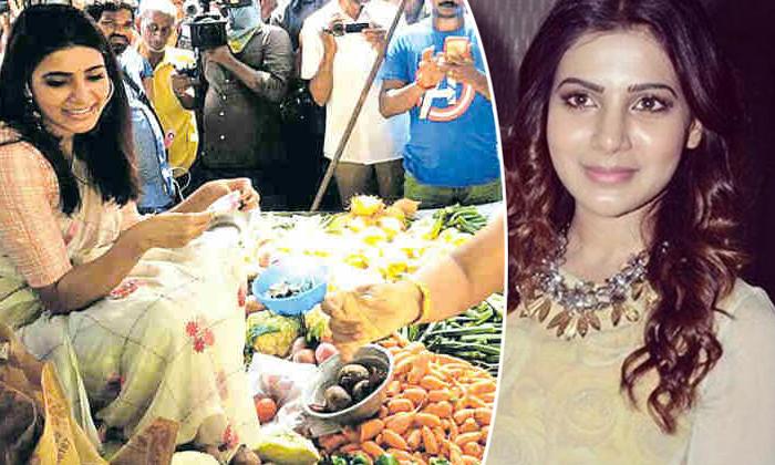 Samantha Sells Vegetables At The Market--Samantha Sells Vegetables At The Market-