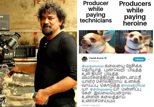 Santhosh Sivan Tweet Lands Him In Trouble With Producers-