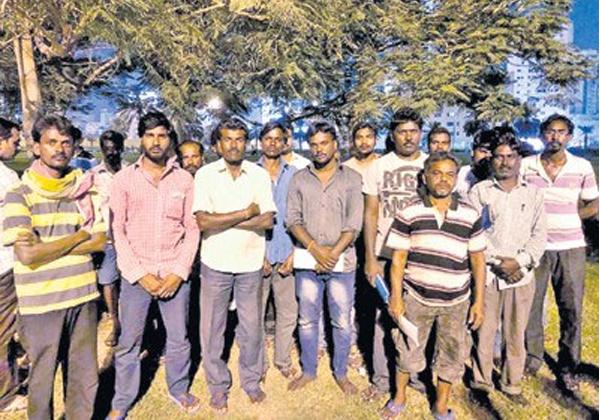 Telugu NRI People Living At Parks In UAE-