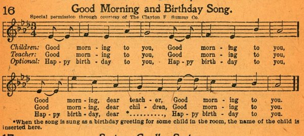 The story behind the Happy Birthday song-19th Century,Good Morning To All,Happy Birthday Song,Patty And Mildred J. Hill