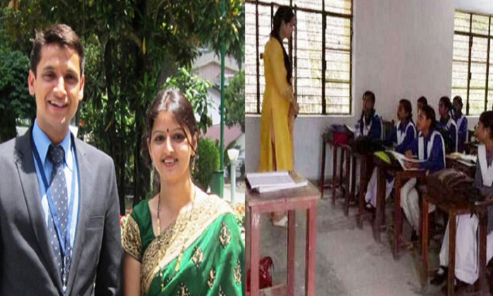 Wife Of District Magistrate Is Teaching Children In Rudraprayag--Wife Of District Magistrate Is Teaching Children In Rudraprayag-