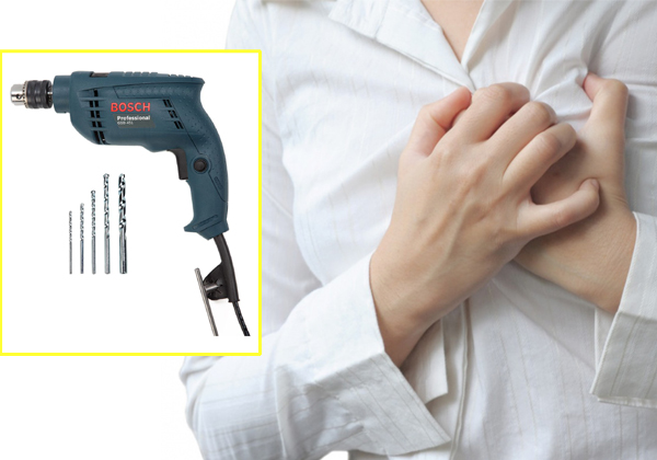 Hart Damaged By Drill Machine Bit In To Hart-