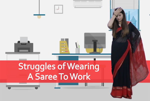 Struggles Of Wearing A Saree To Work Video Goes Viral-