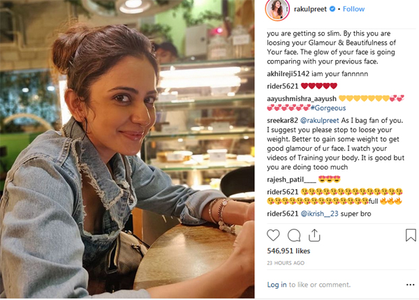 Tapsee Comments On Rakul Preet Dress Instagram Post-