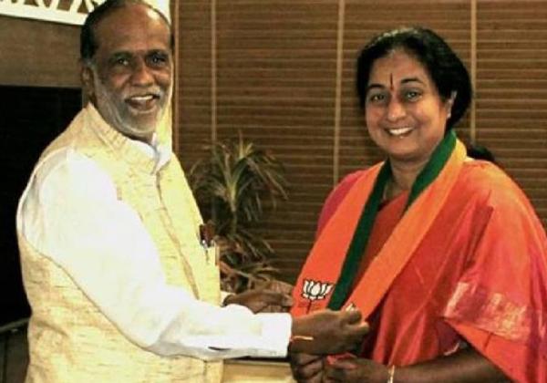 Congress leader C Damodar's wife Padmini Reddy joins BJP-C Damodar,Congress Leader C Damodar's Wife Padmini Reddy Joins BJP,Padmini Reddy,Padmini Reddy Joins BJP,
