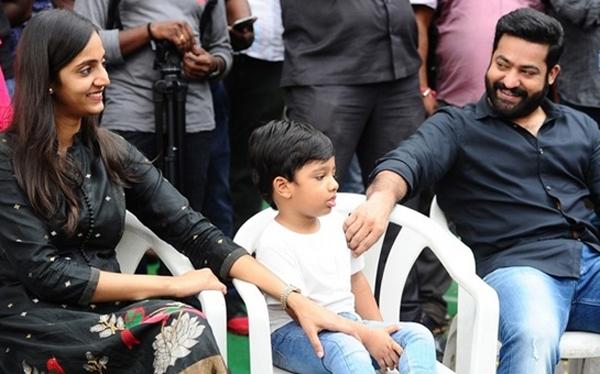 Jr NTR son's special thrills in Aravinda Sametha-Aravinda Sametha Movie,Jr NTR,Trivikram,