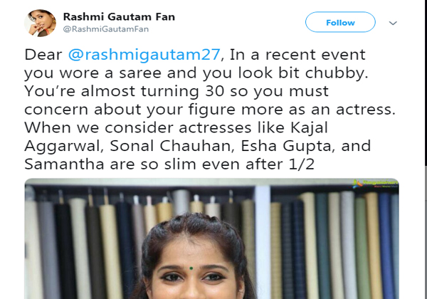 Rashmi Gautam Says About Her Health Problem To The Fan-
