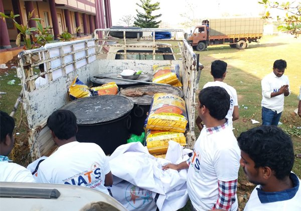 Telugu NATS Helping For Affected People Of Title Toofan-