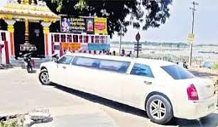 Limojiyan Car In Amaravathi Roads At Ap--Limojiyan Car In Amaravathi Roads At Ap-