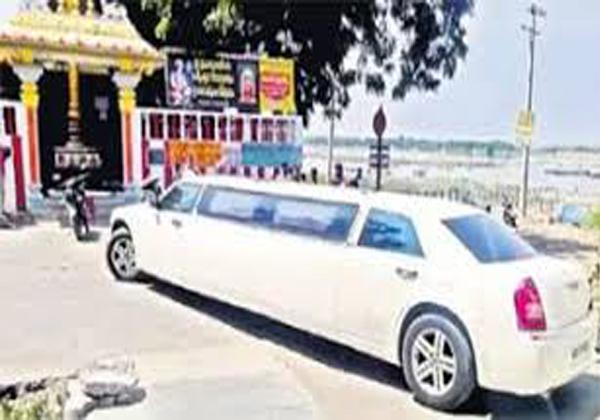 Limojiyan Car In Amaravathi Roads At Ap-