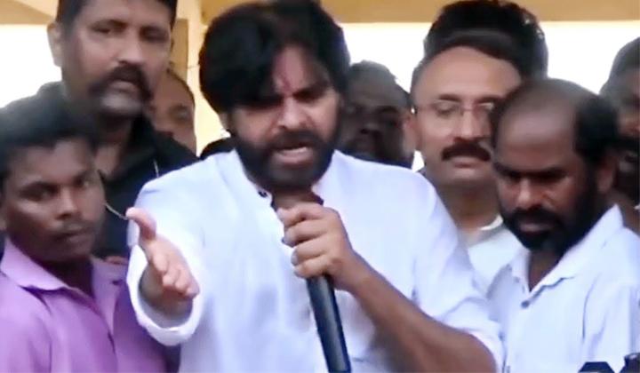 Janasena Chieif Pavan Kalyan Angry On Fans At Srikakulam Tour-