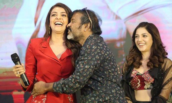 Chota K Naidu Kiss Kajal Aggarwal At Kavacham Teaser Launch-Kavacham Launch Net Zens Comments