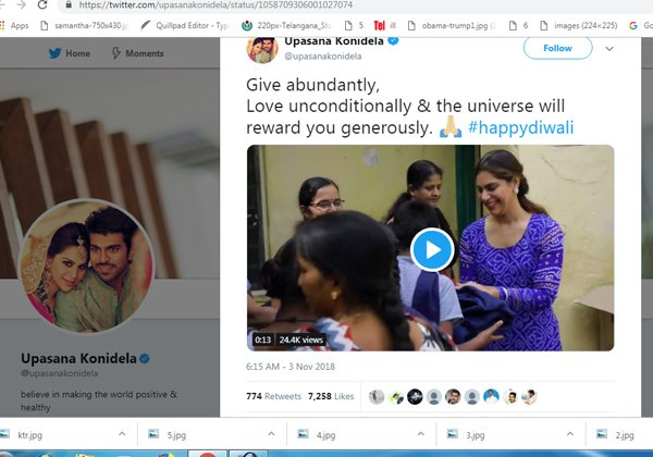 KTR's Sense Of Humour On Upasana's Tweet-