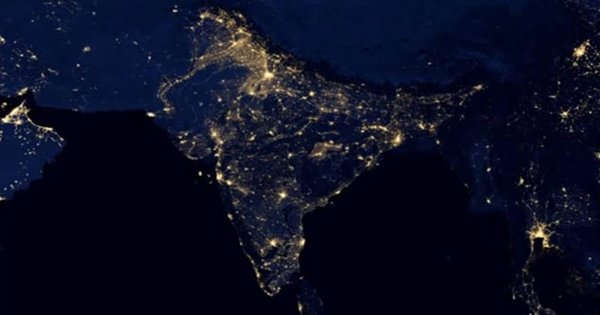 Real Pic Of India From Space On Diwali-