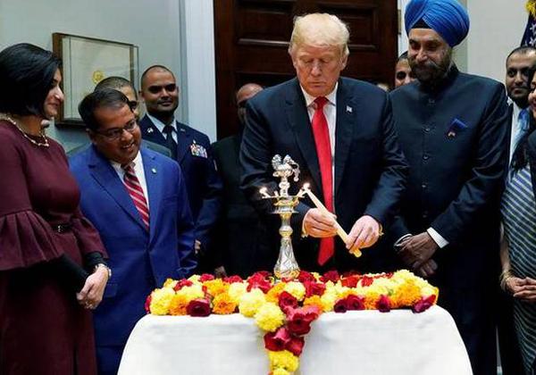 Trump In Celebrates Deepavali But Forgets Hindu Peoples-Nri Telugu Nri News Updates
