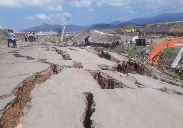 Polavaram Project Road Damaged Due Environmental Changes-