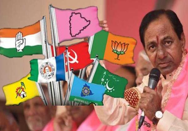 EC Seriously Puts Concentrates Social Media About Political Posts-KCR Mahakutami Posts Telangana Elections TRS