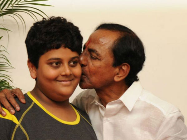 KCR Grandson Himanshu Helps Accident Victim-Himanshu Victim Kcr