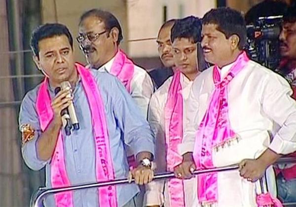 KTR Comments On Lagadapati Rajagopal-Kavitha KCR Rajagopal Telangana Elections TRS