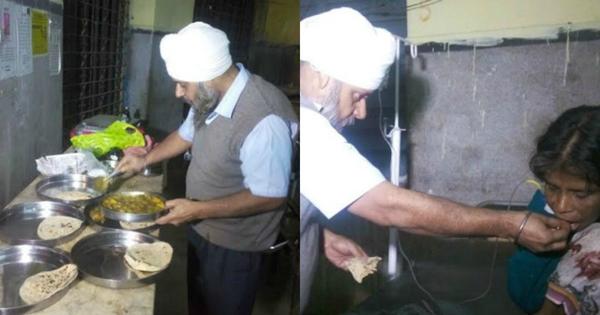 The Patna Man Gurmeet Singh Helping Food For Roadside Victims-Patna Viral About Gurmith Sing In Social Media