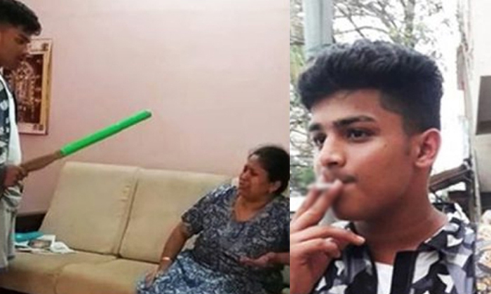 Video Of Boy Beating Mother Prompts Bengaluru Police To Take Action- Telugu Viral News Video Of Boy Beating Mother Prompts Bengaluru Police To Take Action--Video Of Boy Beating Mother Prompts Bengaluru Police To Take Action-