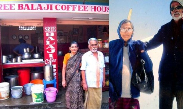 A Tea Shop Owner Couple Who Have Visited 23 Countries-Kerala Sree Balaji Coffee House Vijayan And Mohana Countries