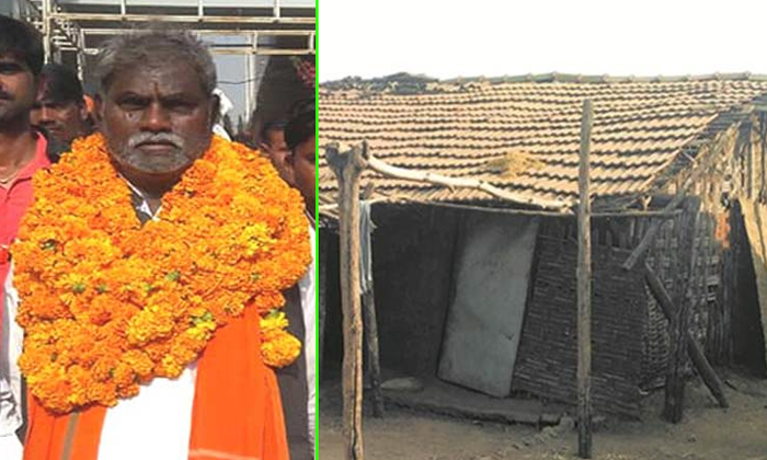 Locals Pitch-in To Build House For Mla Living In Hut In Mp--Locals Pitch-in To Build House For MLA Living In Hut MP-