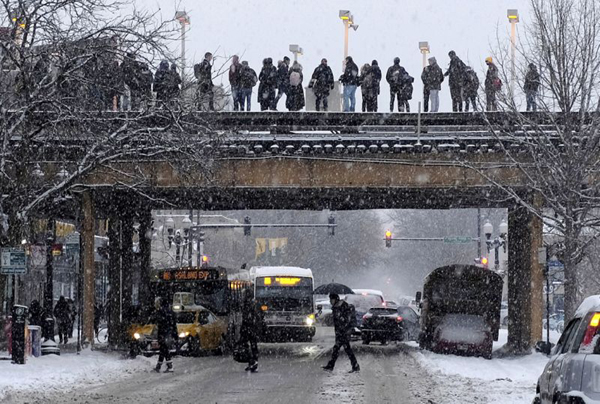 Winter Season In America Streets-