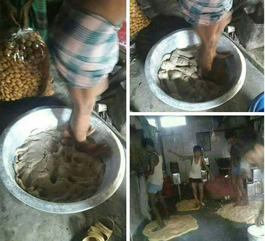 You'll Never Eat Panipuri After Watching The Making-Never Pani Puri Making Sip Water
