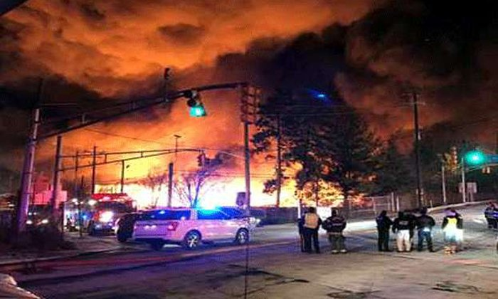 Fire Accident In Usa From New Jersey--Fire Accident In USA From New Jersey-