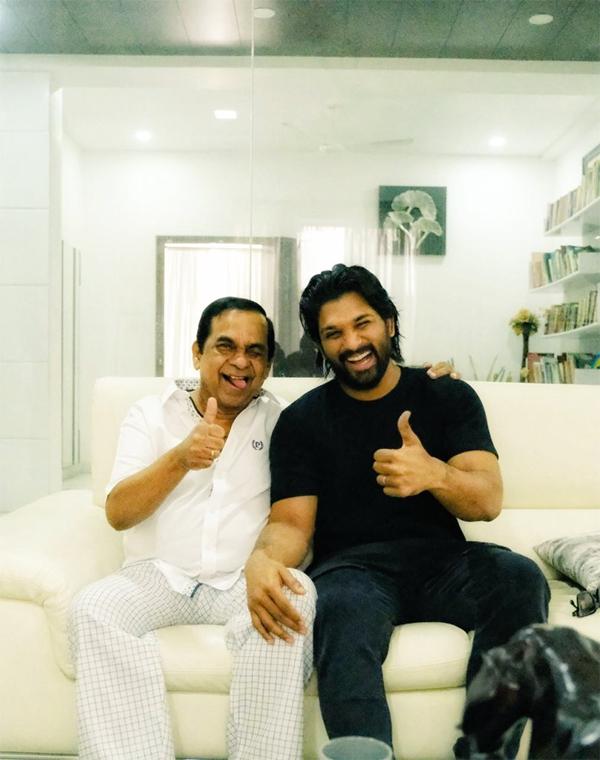 Stylish Star Allu Arjun Intact With Brahmanandham After Heart Surgery-Allu Surgery Brahmanandham