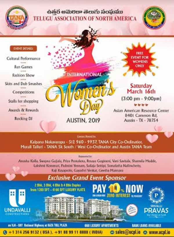 TANA Women's Day Austin 2019 Celebrations In USA-Tana Tana Usa Telugu Nri News Updates