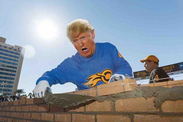 Trump Decided To Build American Wall-Telugu Nri News Updates