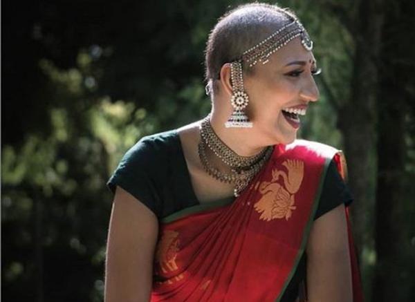 Cancer Survivor Navi Indran Pillai Viral Wedding Photoshoot-Breast Cancer Navi Photoshoot