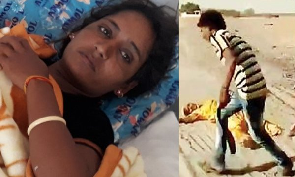 Husband Beats Wife Brutally In Front Of Villagers Rajasthan-Husband Police Complaint Rajasthan