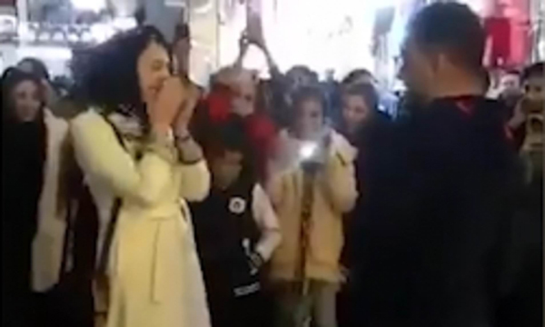 Iranian Couple Arrested After Marriage Proposal In Public-Islamic Morals Marriage Public World And Disregard