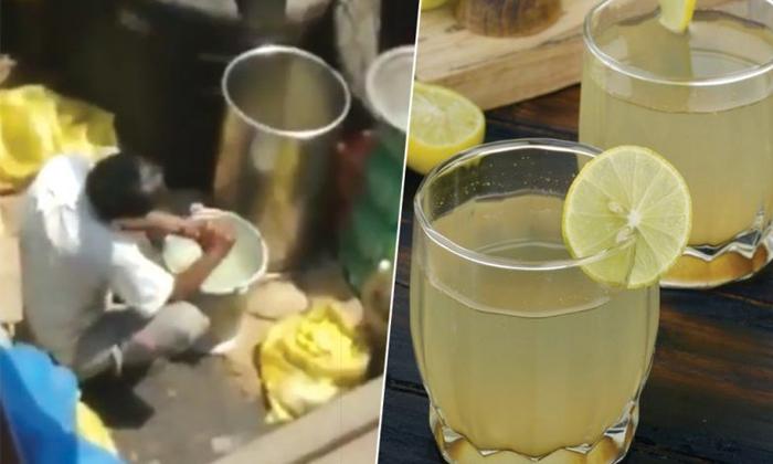 Lemon Water Prepared Under Unhygienic Condition At Kurla Station--Lemon Water Prepared Under Unhygienic Condition At Kurla Station-
