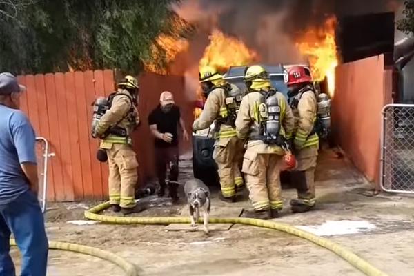 Man Runs Inside His Burning Home To Save Dog Internet Hearts Viral-Burning Internet Viral Jose Guzman
