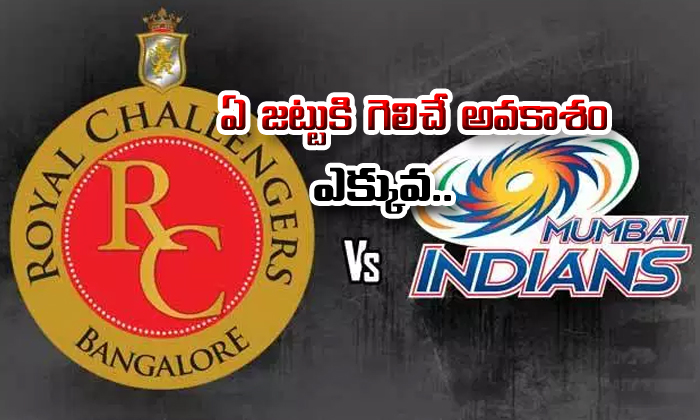 Royal Challengers Bangalore Vs Mumbai Indians Who Will Win--Royal Challengers Bangalore Vs Mumbai Indians Who Will Win-